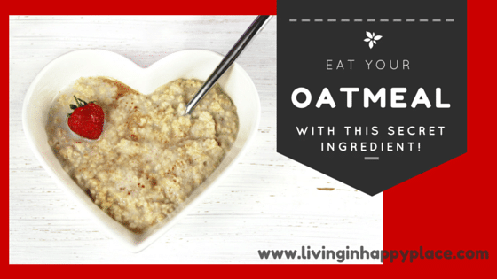 Eat a healthy breakfast! Strawberries & Cream Oatmeal