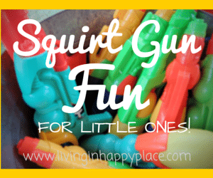 Squirt Gun Game- Water Gun fun for little ones!