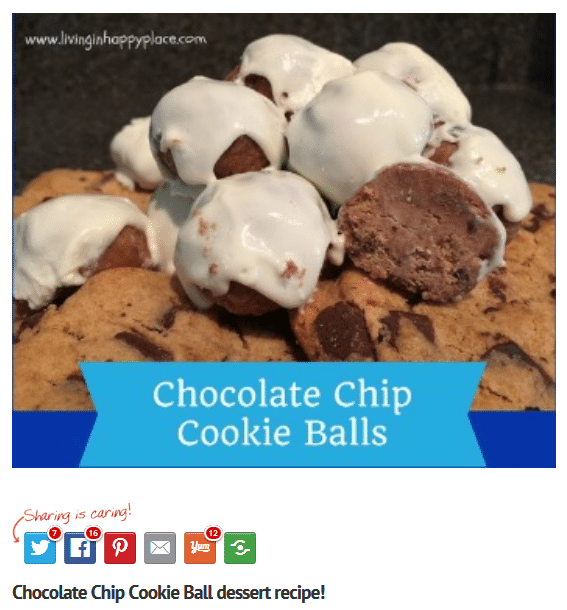 Chocolate chip cookie balls