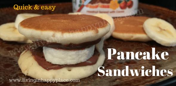 Easy breakfast Pancake sandwiches!