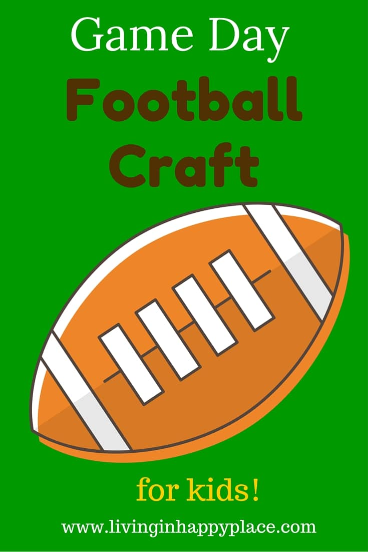 Game Day Craft Football pin