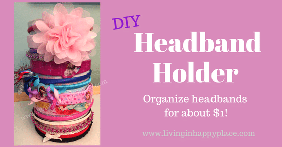 How to organize headbands with this Super Easy DIY Headband Holder! Hair-ties and headbands: organized!