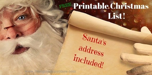Printable Christmas List! SANTA's- address included!