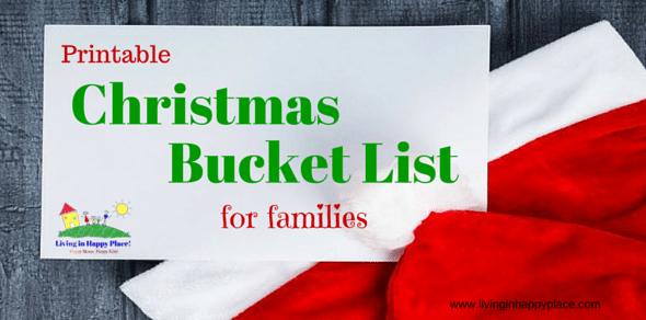 Printable Christmas Bucket List for Families!
