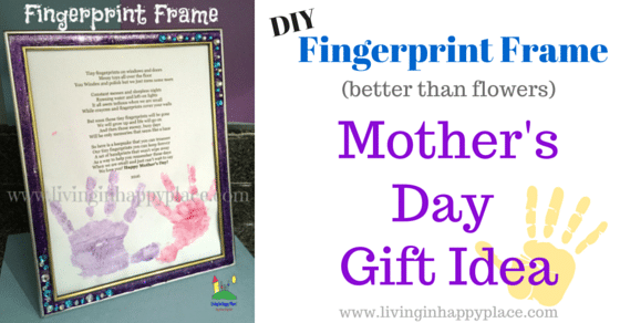 Handprint Frame Mother's Day Gift Idea