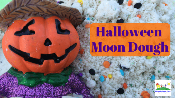 Halloween Moon Dough and Sensory Play