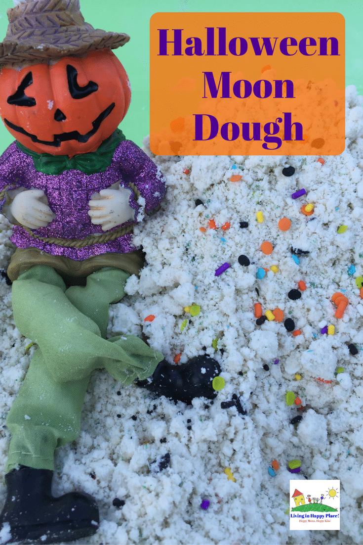Halloween moon dough activity