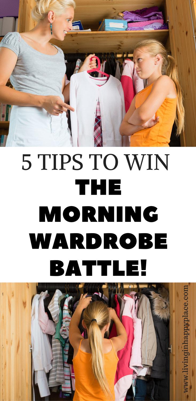 morning wardrobe battle