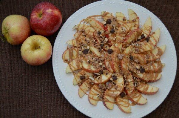 Quick Breakfast Apple Nachos