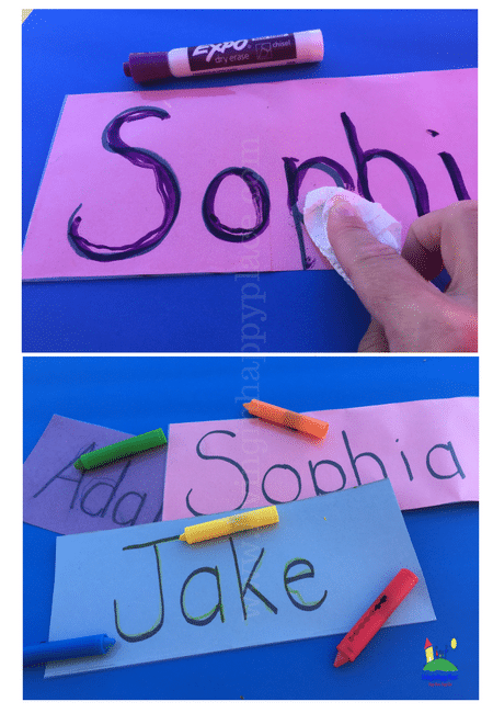 Practice name writing with this DIY reusable mat