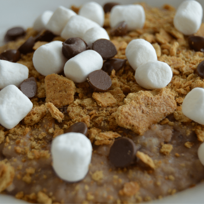 Healthy s'mores oatmeal recipe