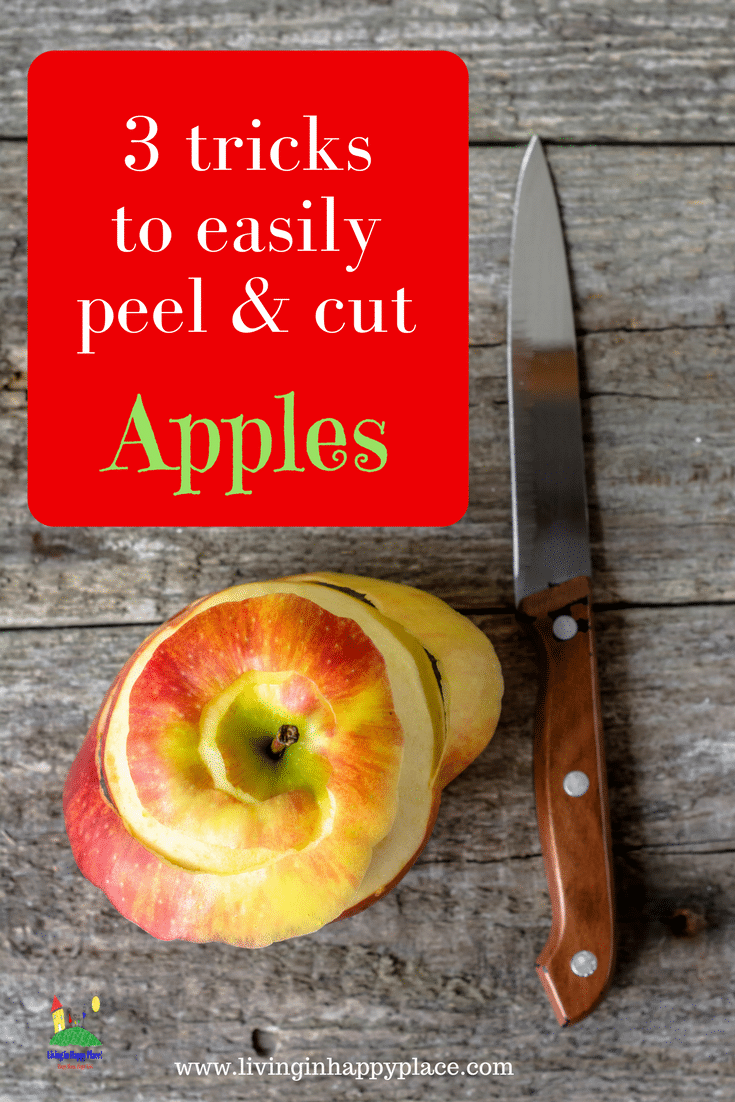 Peel and slice apples the easy way