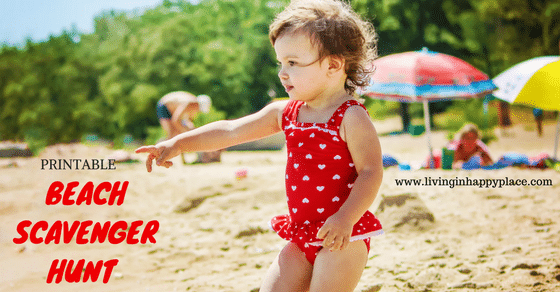Beach scavenger hunt activity for toddlers!