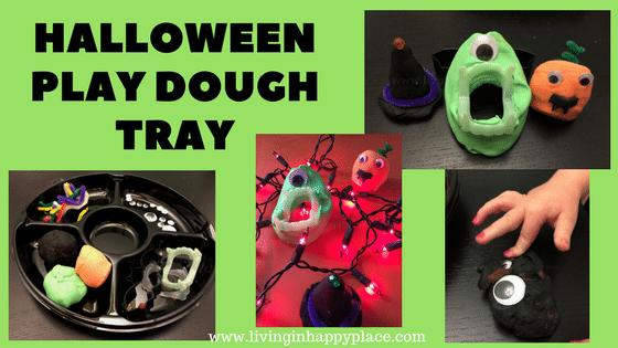 Halloween Play Dough Tray Activity