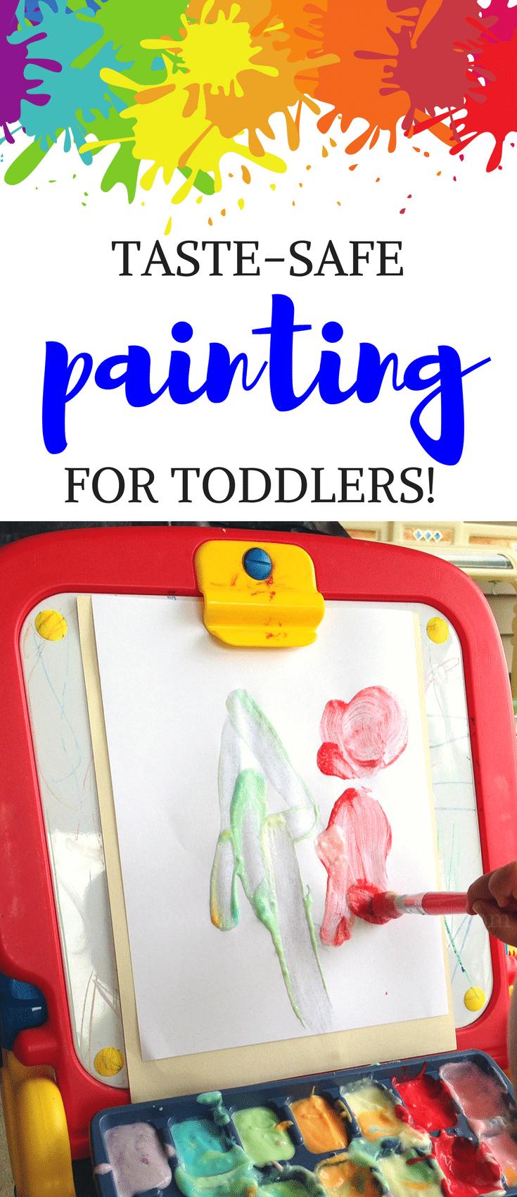 edible yogurt painting for toddlers