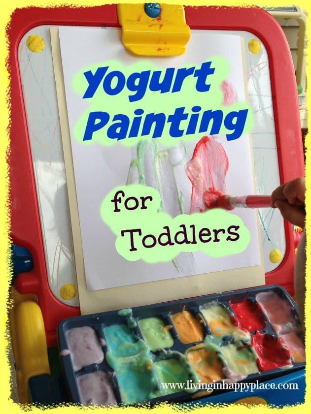 Edible yogurt paint