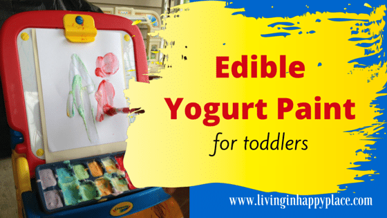 Toddler activity Edible Yogurt Paint