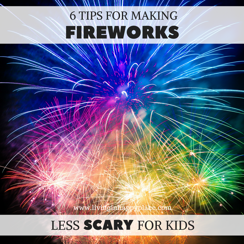Make fireworks less scary for kids