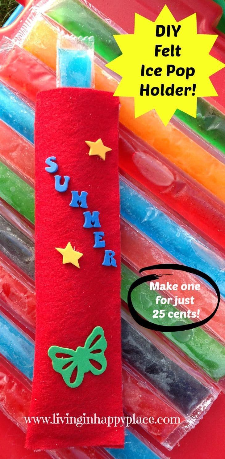 DIY Ice pop holder craft