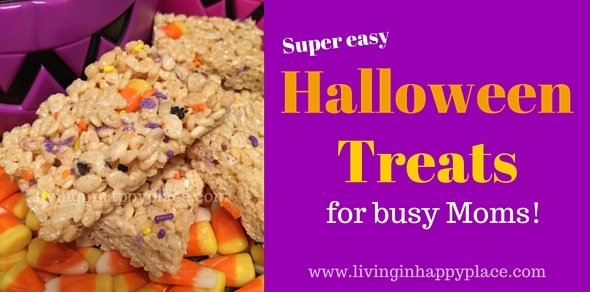Easy Halloween Treat- Spooky Crispy Snacks! Great for school parties! Quick and delicious!
