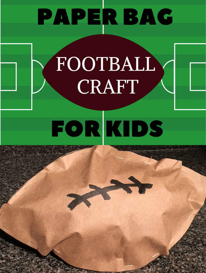 Score a touchdown for fun! Game Day Craft for Kids: Paper bag footballs!