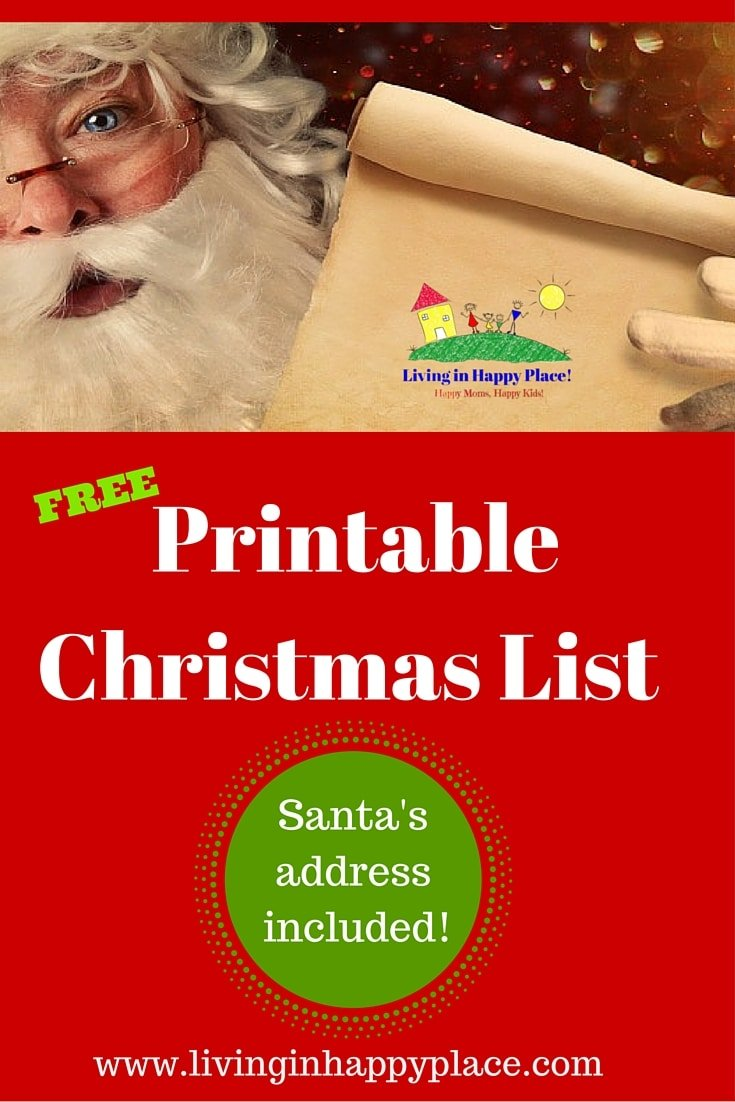 Printable, customizable Christmas list!