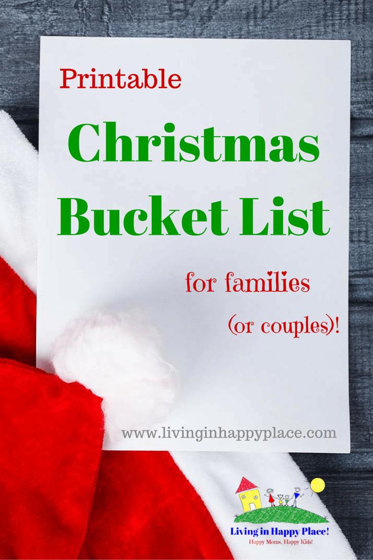 Christmas Bucket List of activities