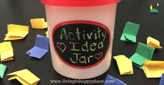 "Never hear ""I'm bored"" again with this Kids Activity Idea Jar!"