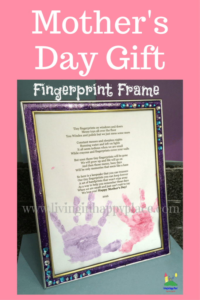 DIY frame for mothers day gift, Mother's Day gift idea