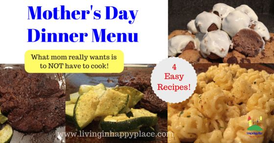 Mother's Day Dinner Menu