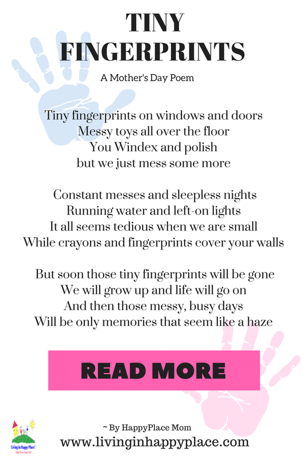 Tiny Fingerprints- A Poem for Mom on Mother's Day