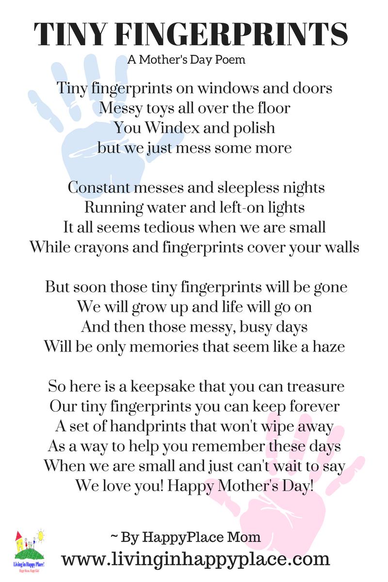 Poem for mom-Fingerprint poem Mother's Day gift