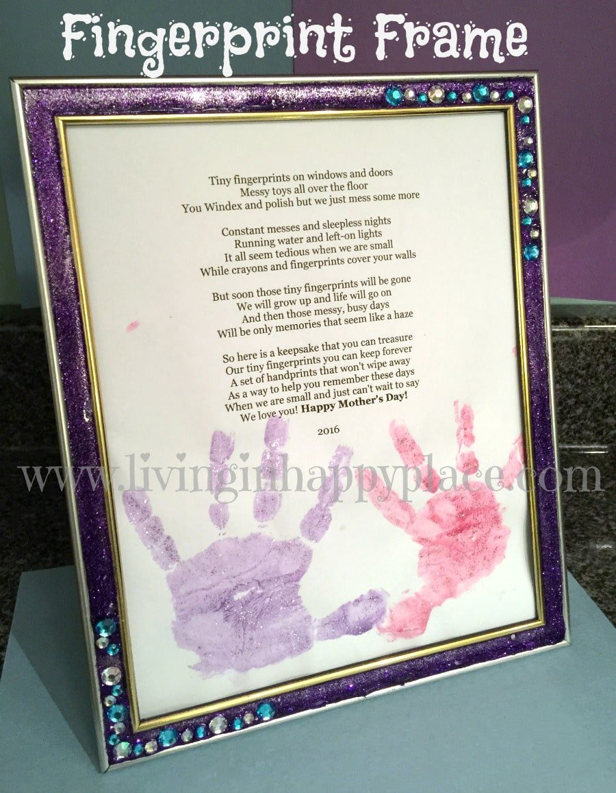 Mother\'s Day gift idea: Handprint poem or fingerprints poem for mom