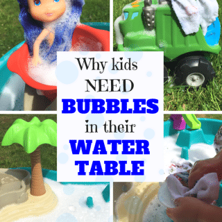 water table full of bubbles