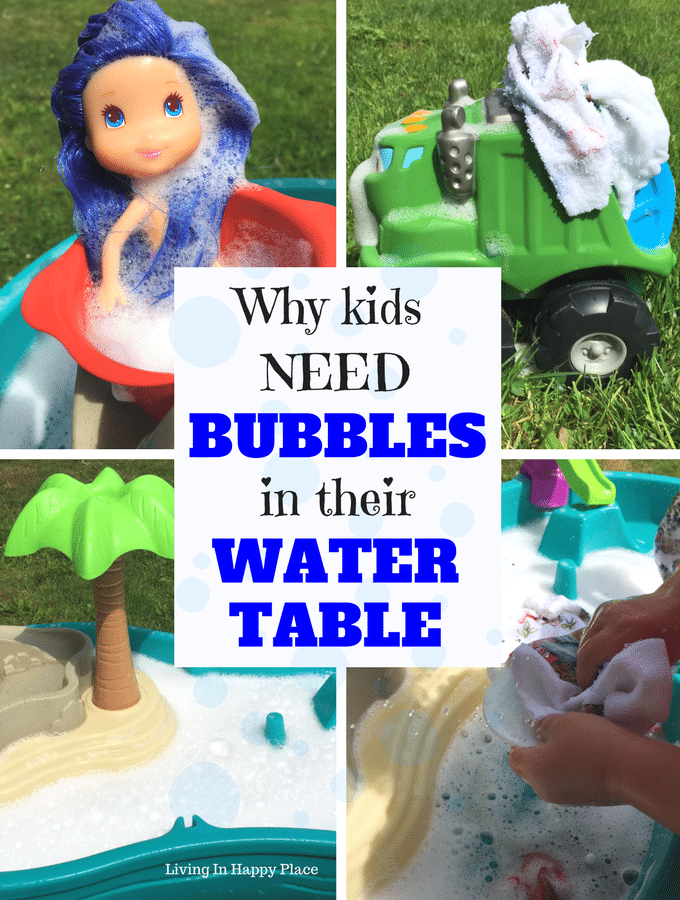 7 Reasons to Put BUBBLES in your Water Table