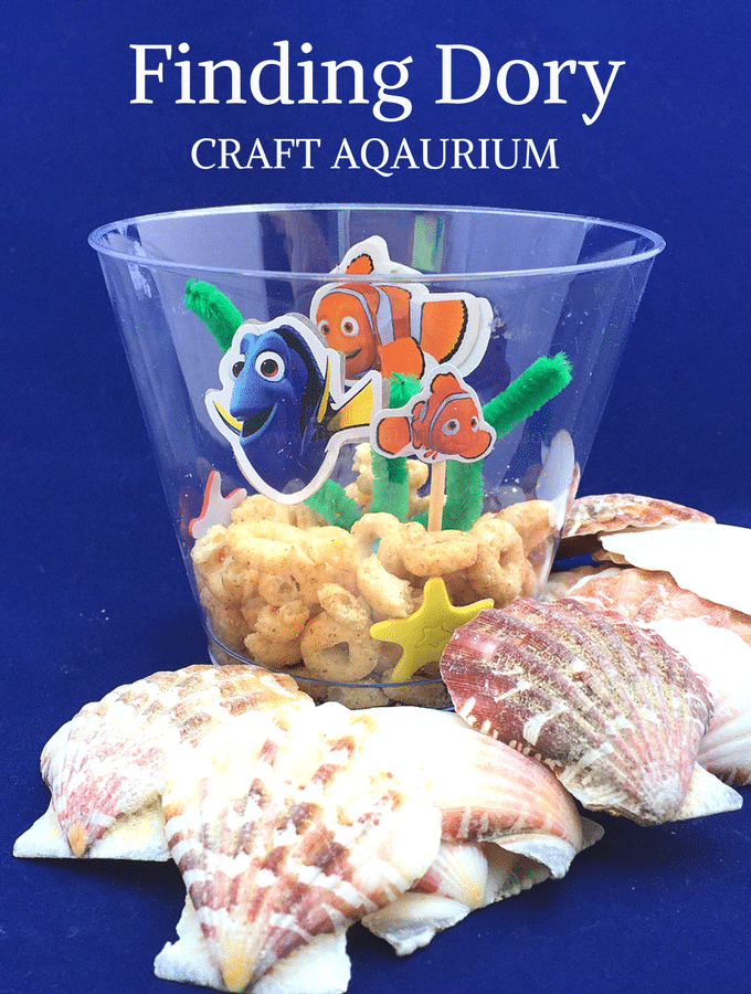 Diy finding dory craft aquarium for kids finding nemo craft for Finding dory crafts for preschoolers