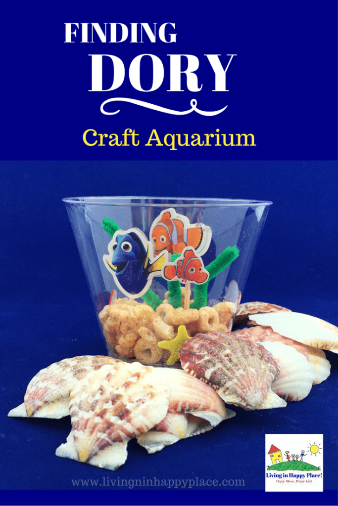 Finding Dory craft idea for kids! Throwing a Finding Dory birthday party and looking for kids activity ideas? Or do your kids just love Dory and Nemo and you want a mommy and me activity idea? This easy, fun Finding Dory craft is perfect for preschoolers or any Dory Nemo fan! #FindingDory #Nemo #Disney #kidsactivity #KidsCraft