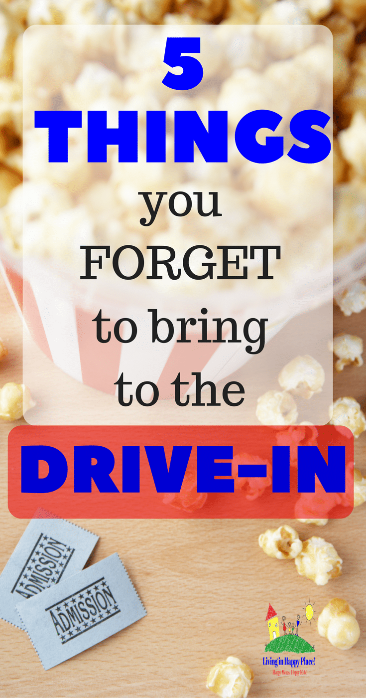 5 Things you forget to bring to the drive-in