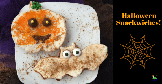 halloween snack sandwich for kids