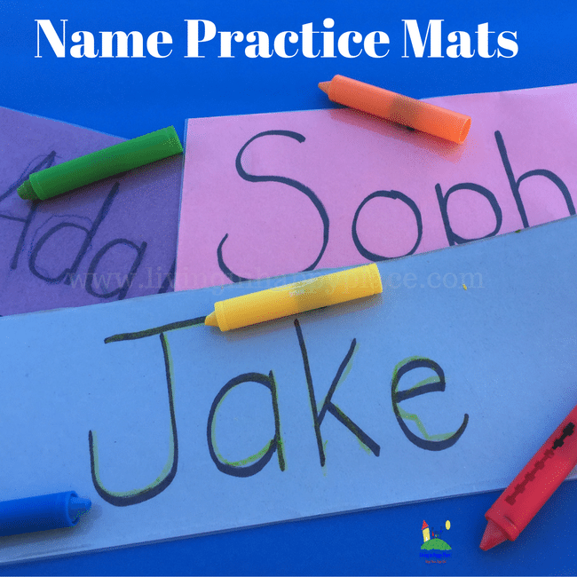 Practice Name Writing with this DIY Reusable Name Mat