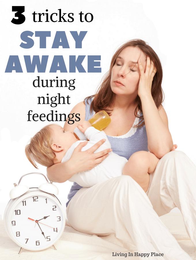 3 tricks to stay awake during night feedings