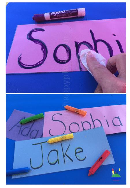 Practice name writing with this DIY reusable mat
