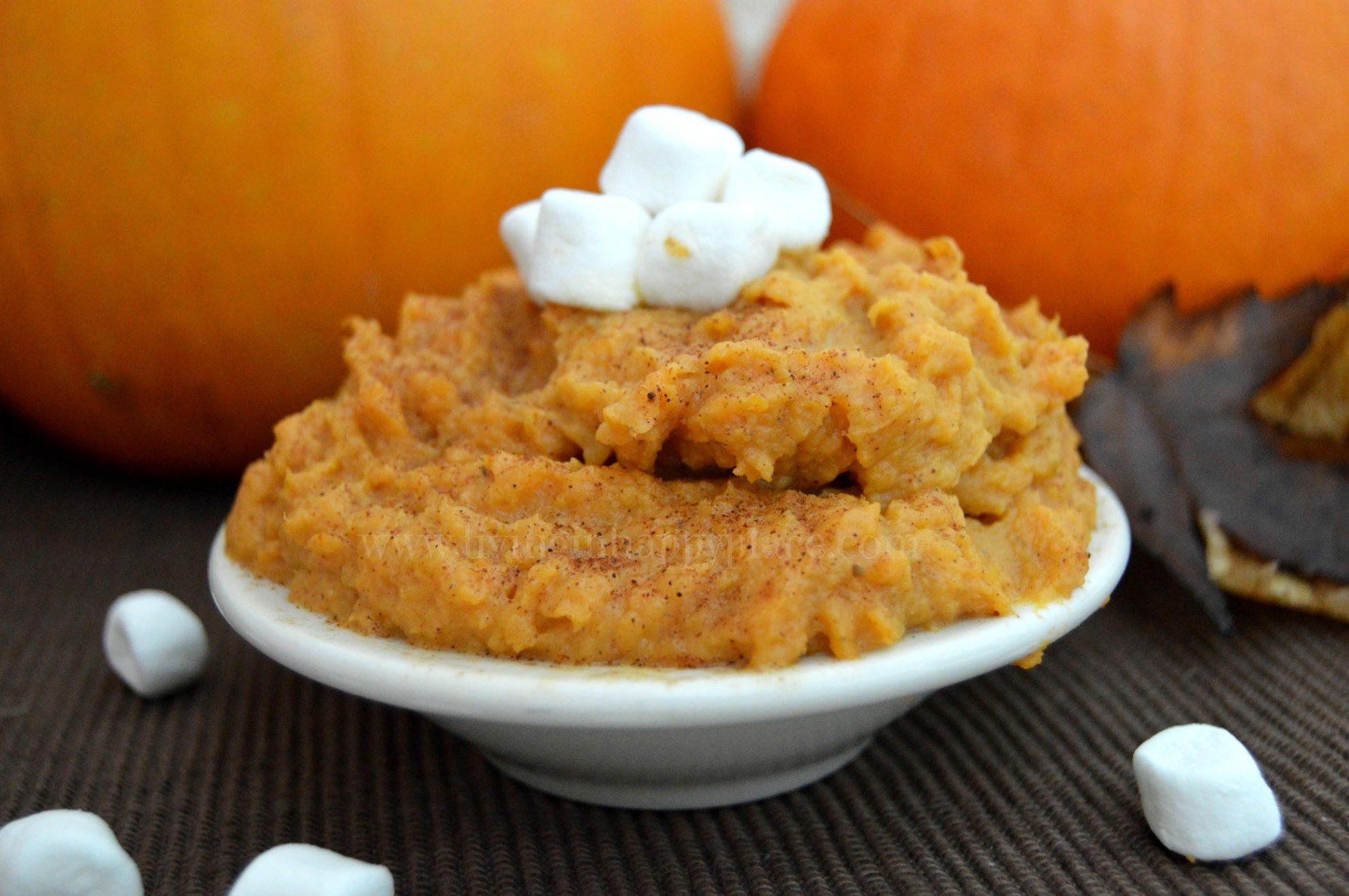 Pumpkin Pie mashed sweet potatoes recipe