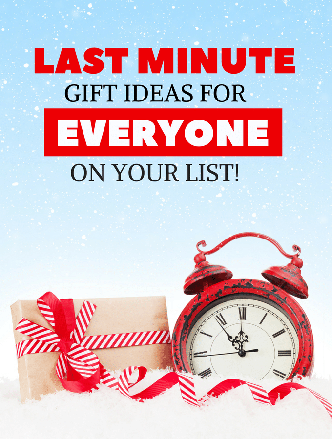 Last minute gift ideas for that person you're stuck on!