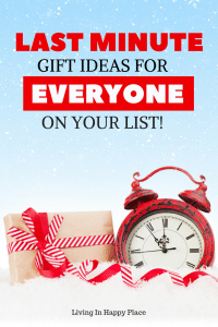Last minute gift ideas for him, for her, for kids, even for teenagers! Christmas is saved with these last minute gift ideas for everyone on your list. You can even find a gift for the person who has everything! #giftguide #giftidea #Christmas #LastMinuteGifts #ChristmasGifts
