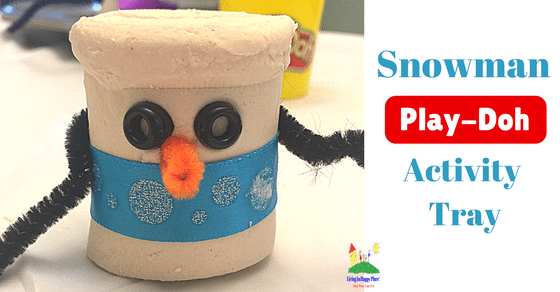 Snowman activity tray for kids!
