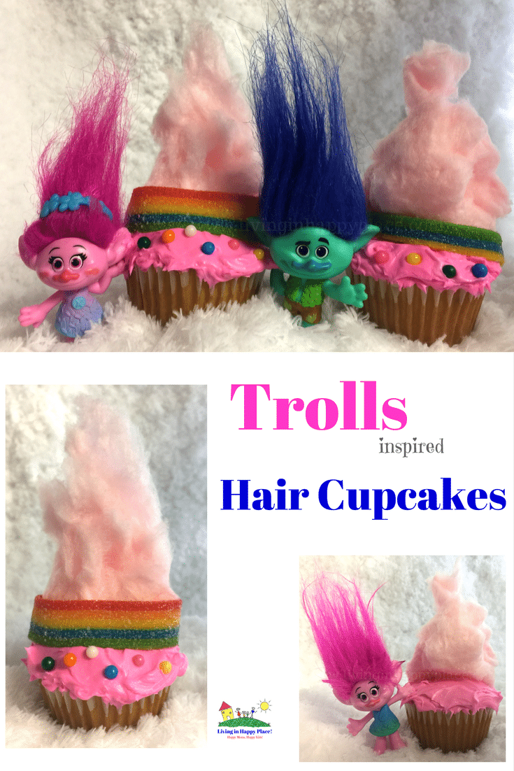Trolls Cupcakes Hair Up Trolls Cupcakes Inspired By The