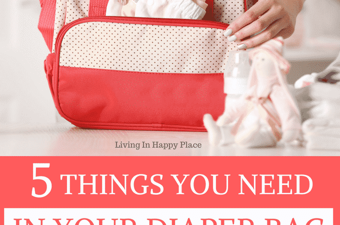 Potty training accident kit- 5 things you need in your diaper bag while potty training. No matte what potty training tips you try or whether you potty train in 3 days or 3 months- accidents happen! Be prepared with these 5 potty training neccesities!