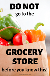 save money shopping with grocery bag full of veggies