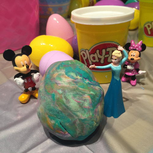 Plastic Easter Egg craft idea